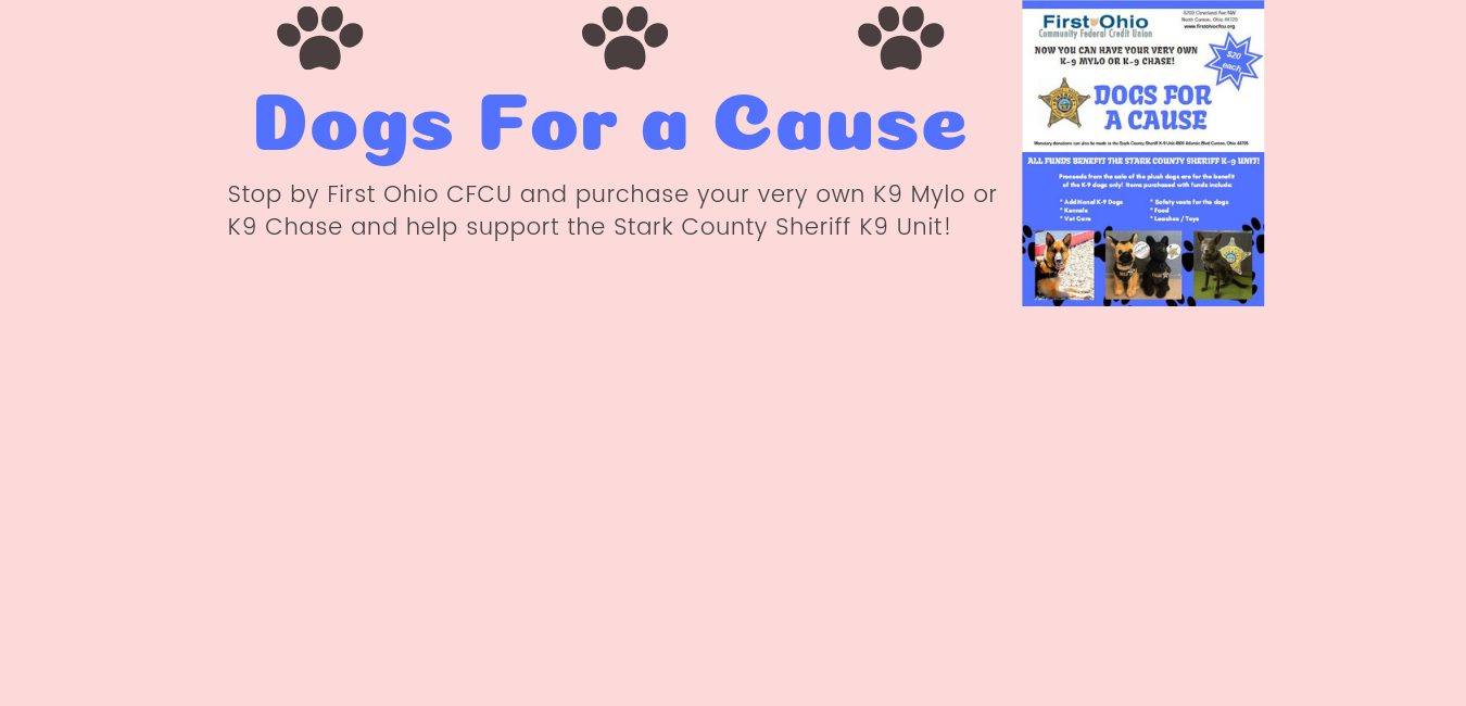 Dogs For A Cause Banner