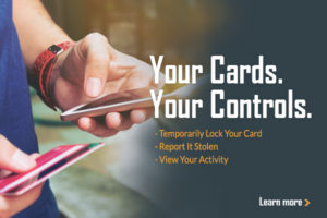 Temporarily lock your card, report it stolen, and view your activity