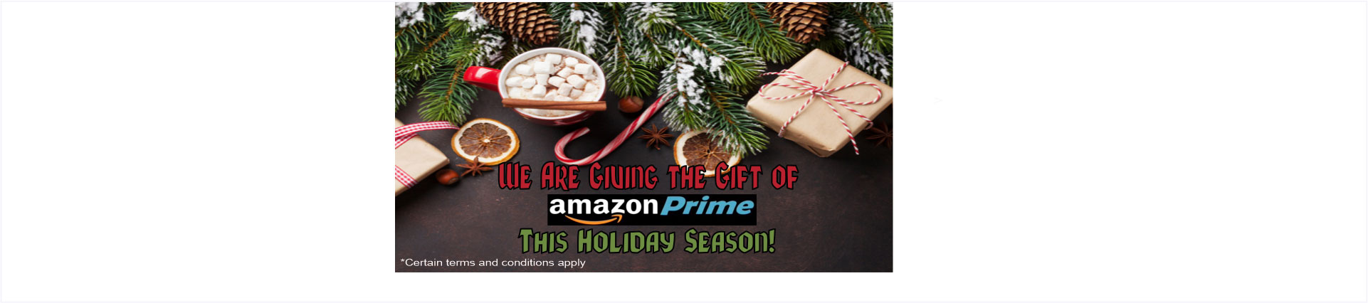 We are giving the gift of Amazon Prime this holiday season