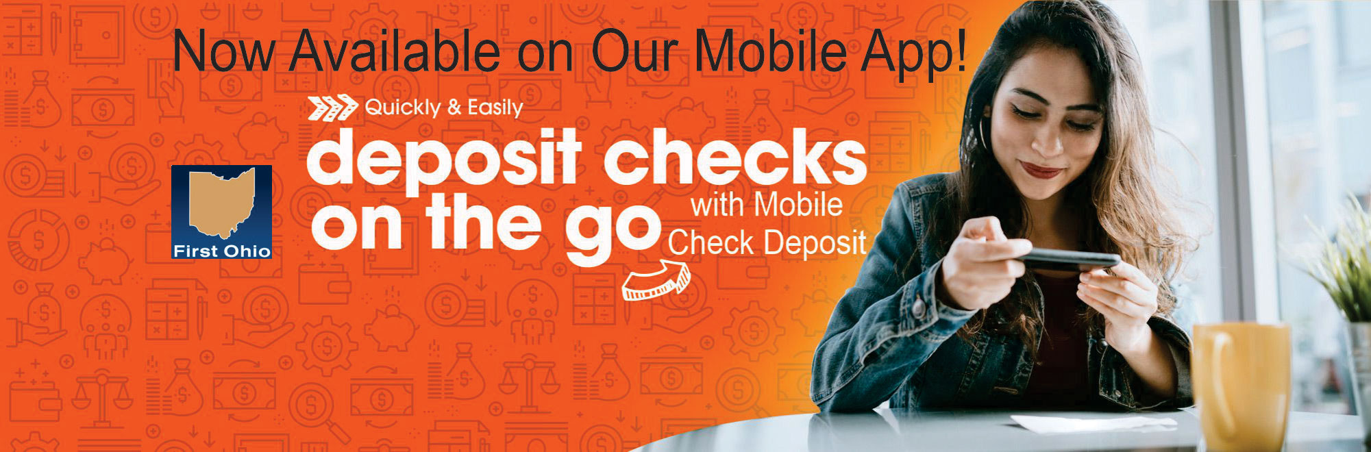 Deposit checks on the go with mobile check deposit now available on our mobile app